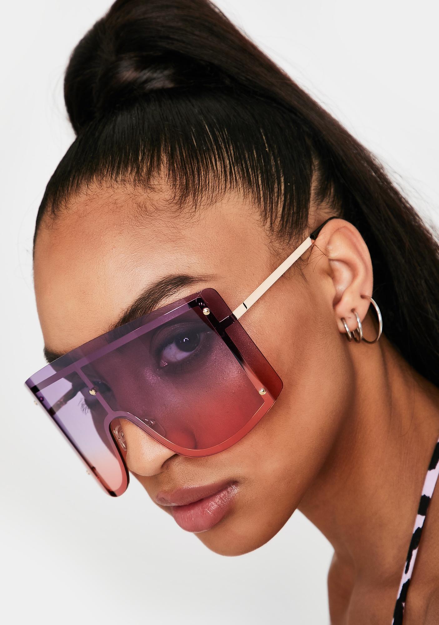 Pretty High Ratings Shield Sunglasses