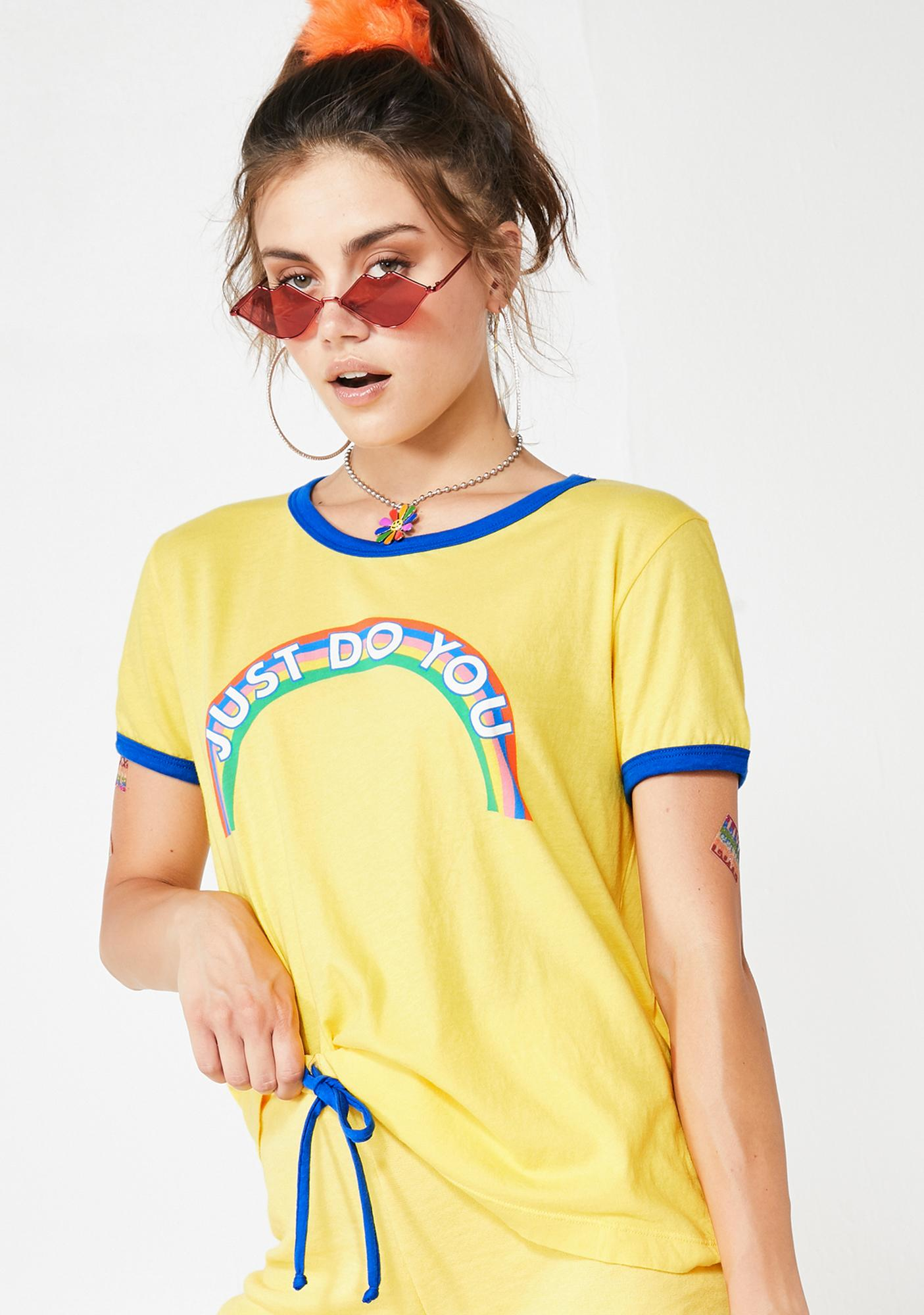Wildfox Couture Just Do You Ringer Tee