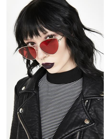 Blazed Roll Out Cat Eye Sunglasses