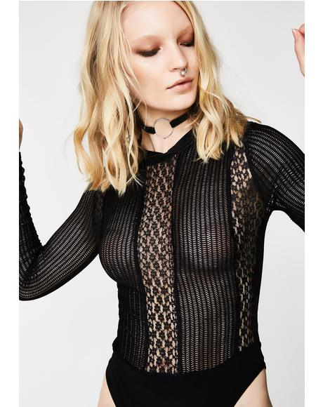 Wild Flame Lace Bodysuit
