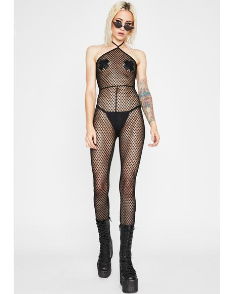 Man Trap Fishnet Jumpsuit