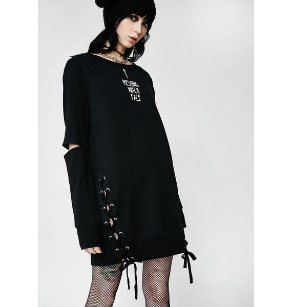 Killstar Resting Witch Face Sweatshirt