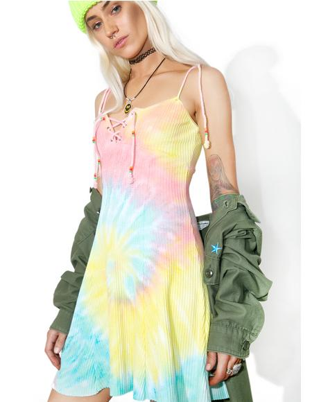 Acid Crush Tie Dye Dress