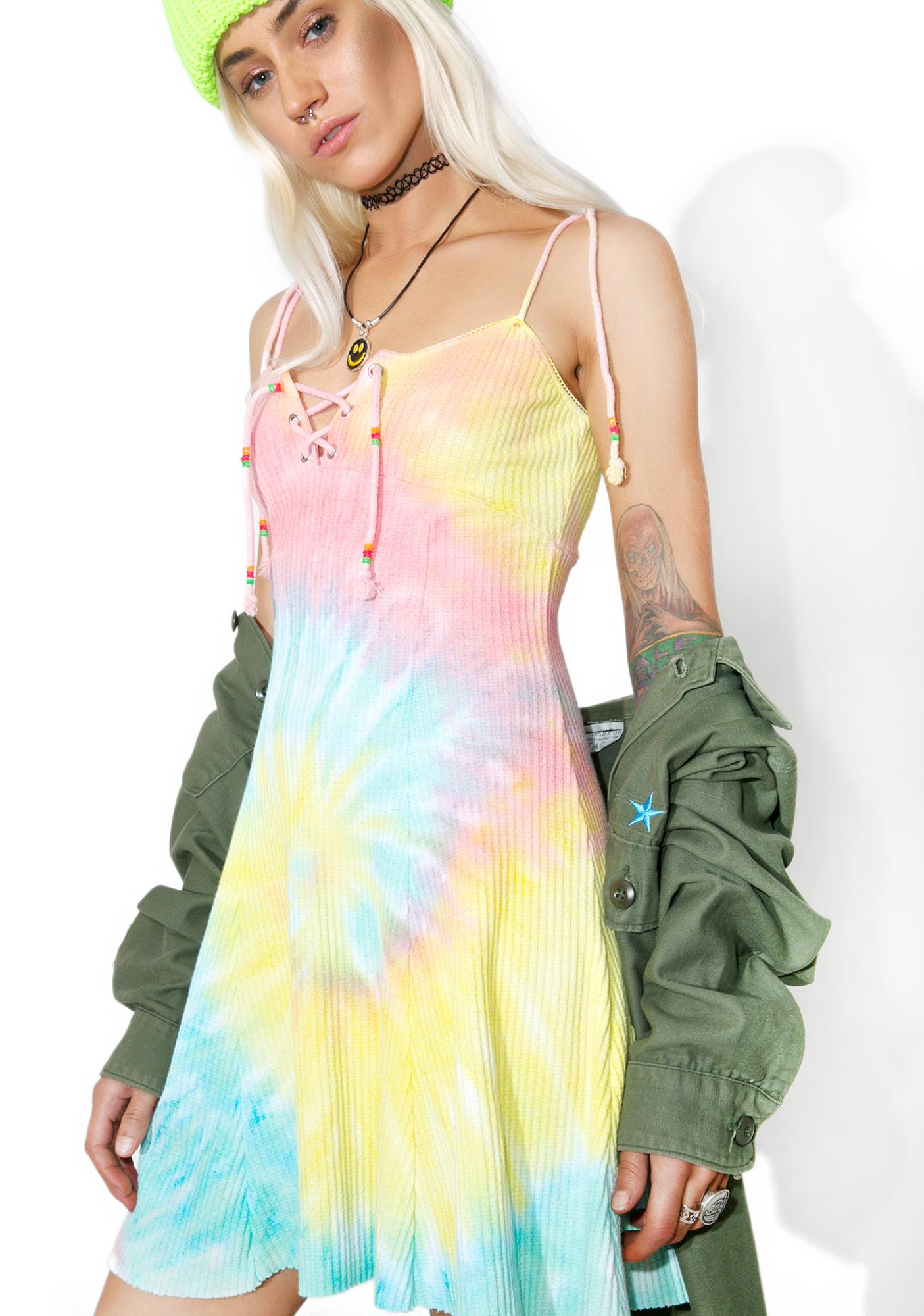 Current Mood Acid Crush Tie Dye Dress