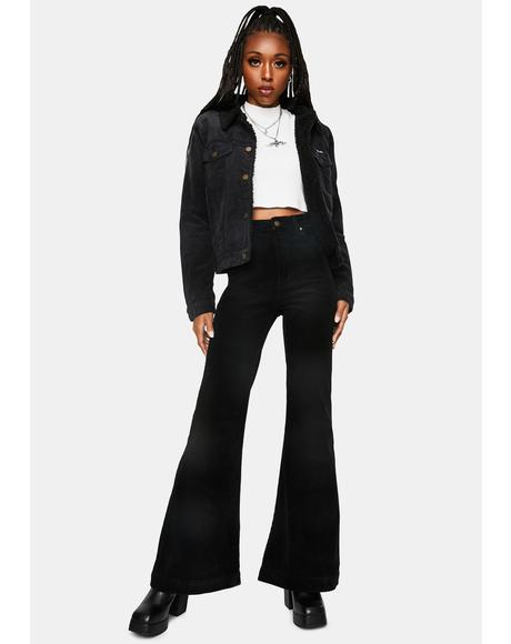 Black Eastcoast Velvet Flares