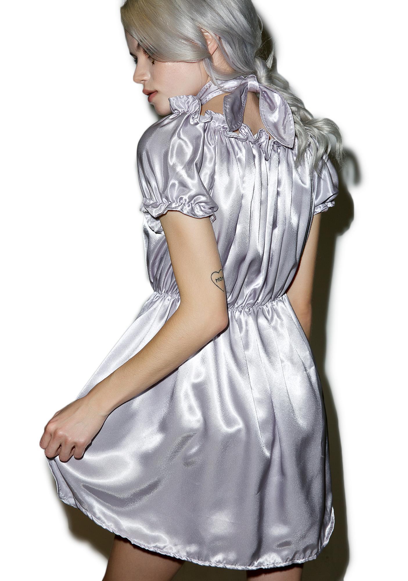 O Mighty Cyber Babygirl Silk Dress