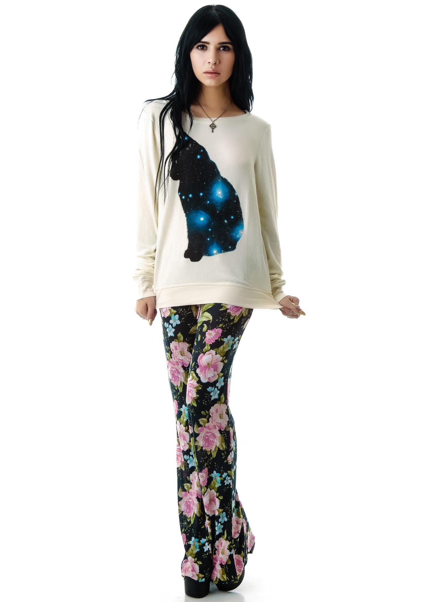 Wildfox Couture Galaxy Cat Baggy Beach Jumper