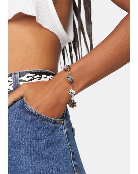 What Happens In Vegas Dice Chain Bracelet