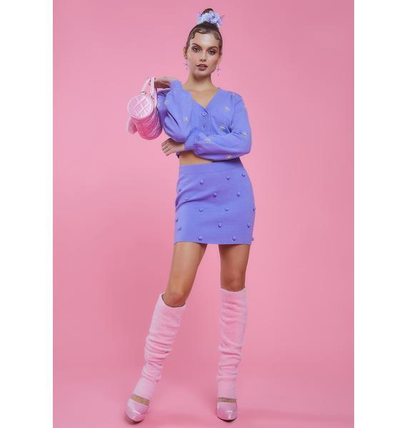 Sugar Thrillz Dance With Me Pom Pom Sweater Skirt