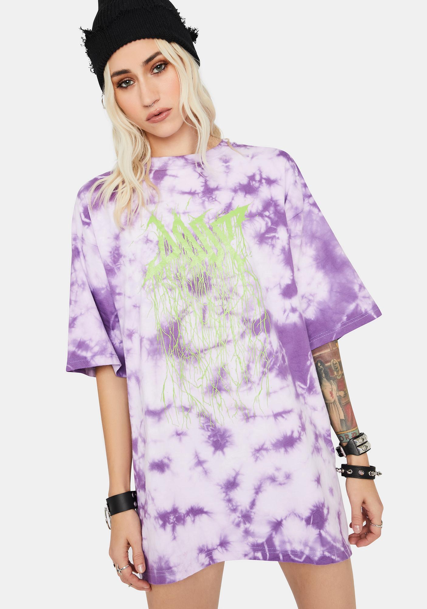 DOOM 3K Violet Tie Dye Tee