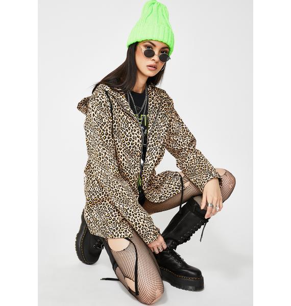 ETHIK Leopard Skin Canvas Hoodie Jacket