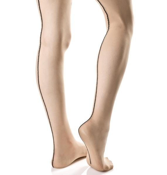 Sheer Runway Backseam Tights