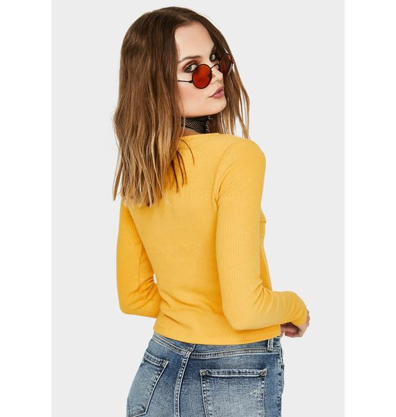 Kiki Riki Marigold So Over It Front Tie Sweater