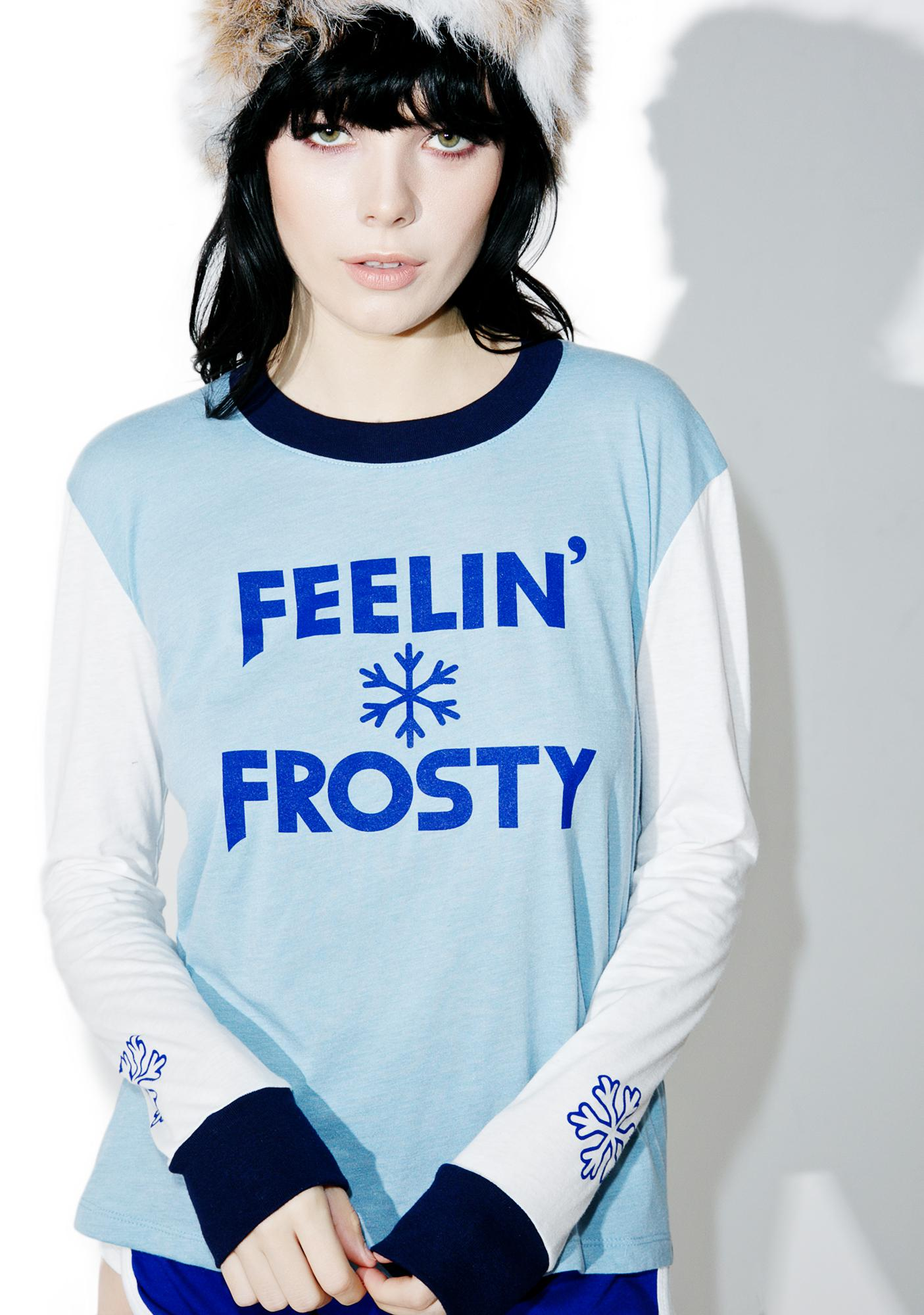 Camp Collection Feelin' Frosty Long Sleeve Ringer