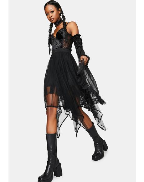 Artemis Sheer Midi Skirt