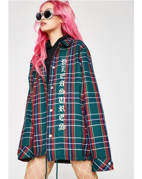 Plaid Coaches Jacket