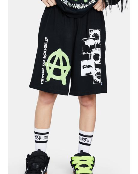 X Champion Anarchy Sunflower Shorts