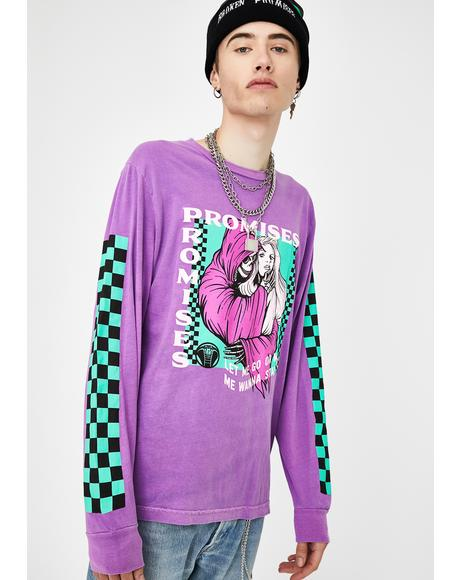 Smother Pigment Dye Long Sleeve Tee