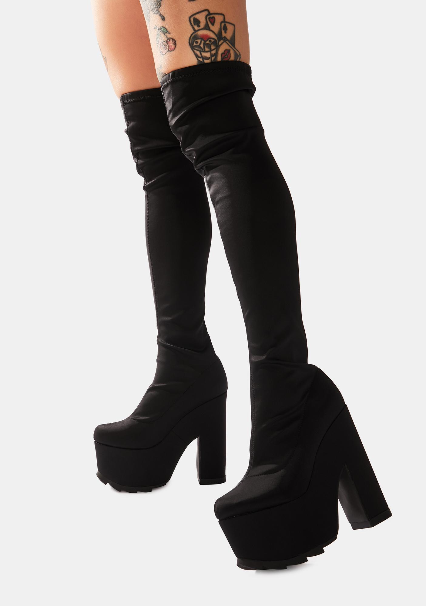 Y.R.U. Labyrinth Thigh High Platform Boots