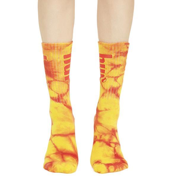 HUF Acid Burst Crew Socks