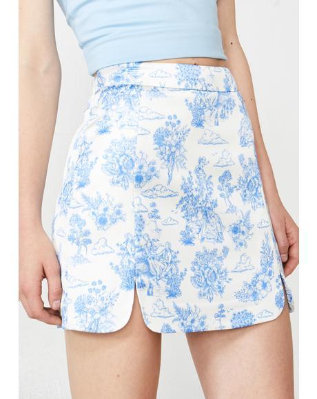 Provincial Life Satin Skirt