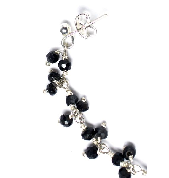 Rock n Rose Onyx Nose Chain