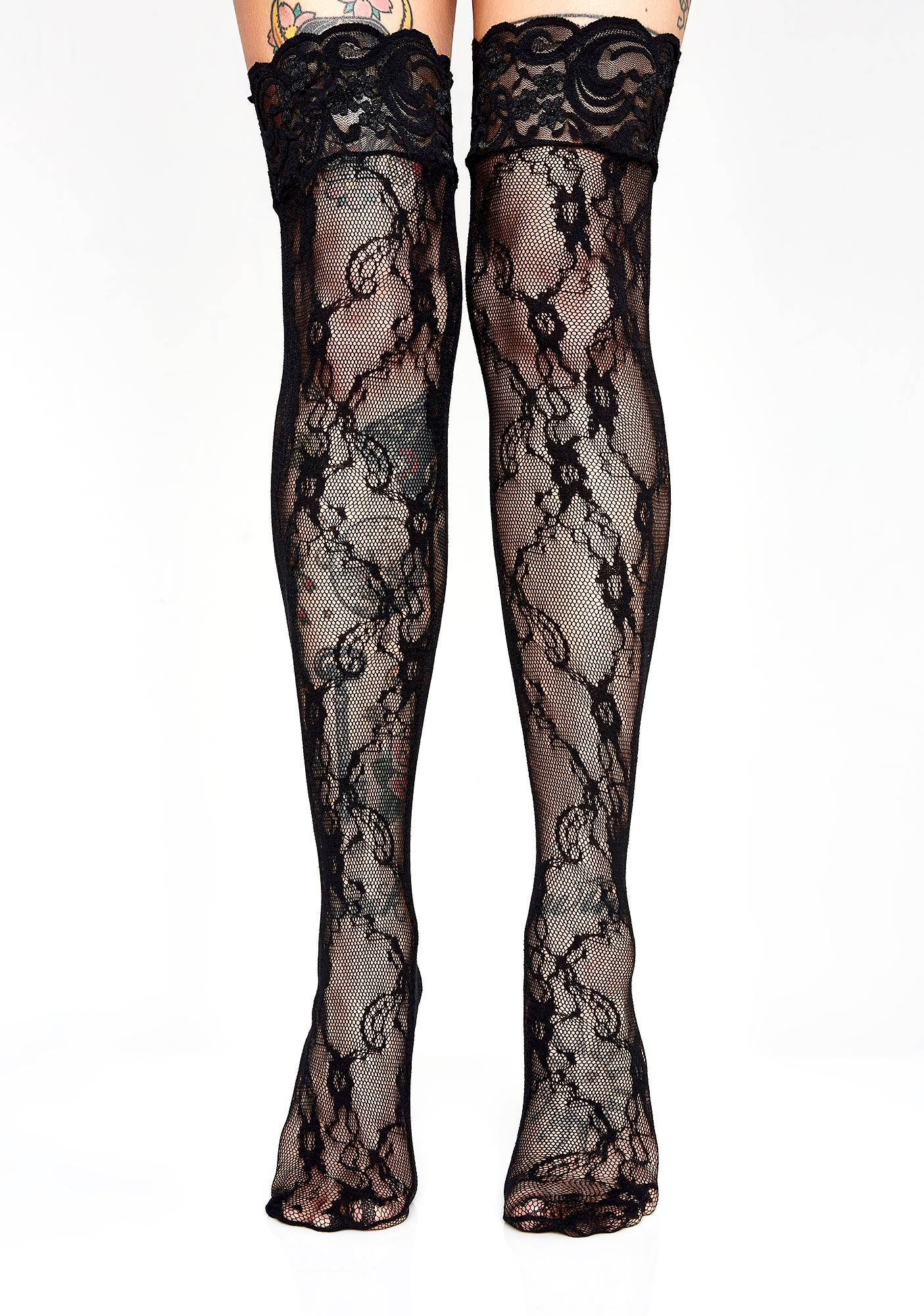 Lure You In Lace Thigh Highs