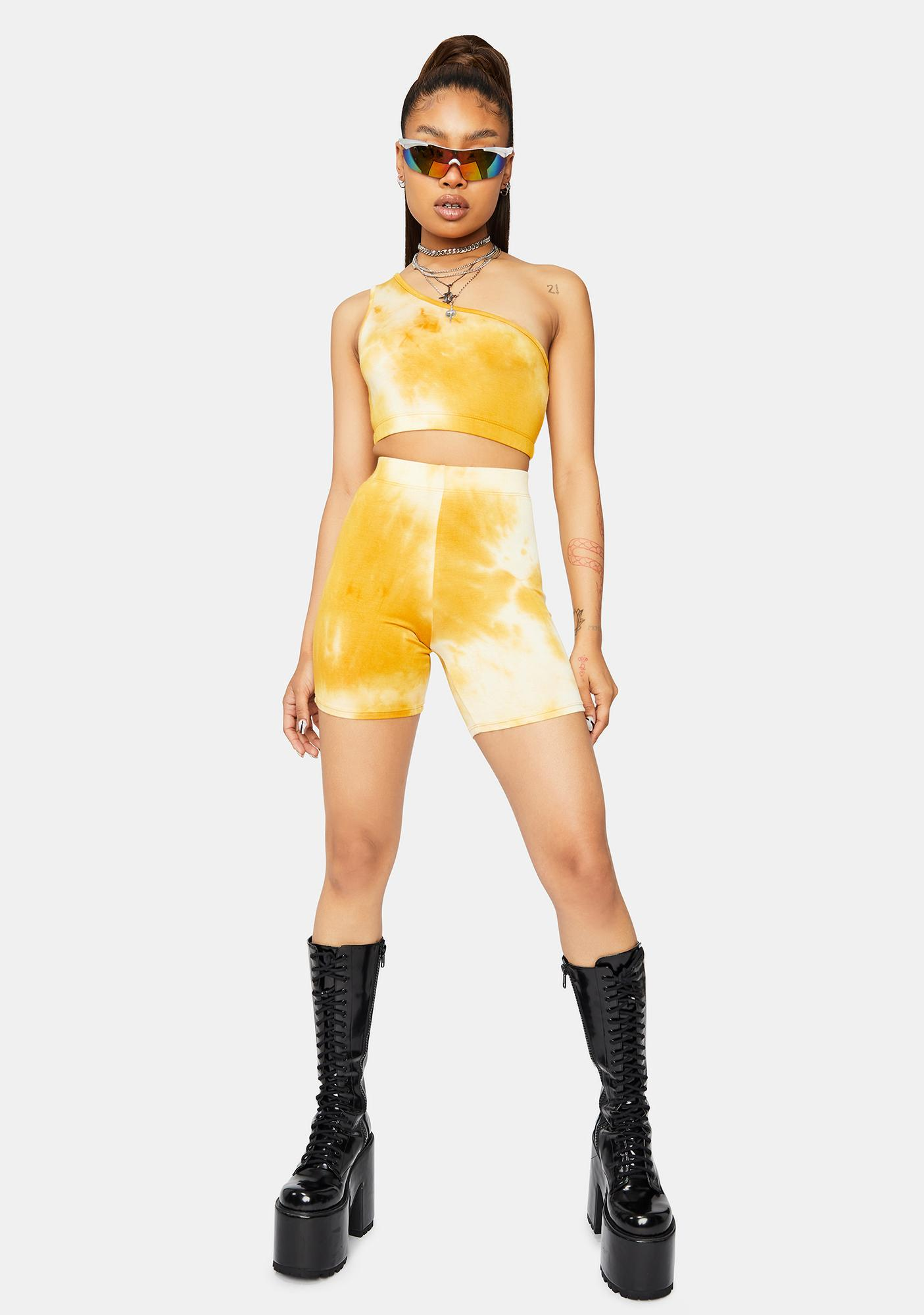 Golden Hour Tie Dye Shorts Set