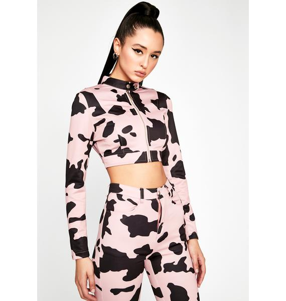 Baby Everything's A1 Cow Print Jacket