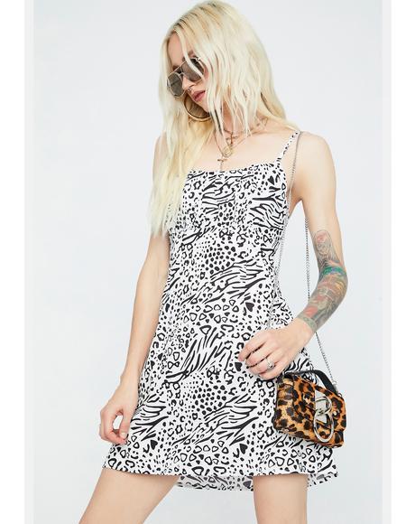 Wild Fears Animal Print Tank Dress