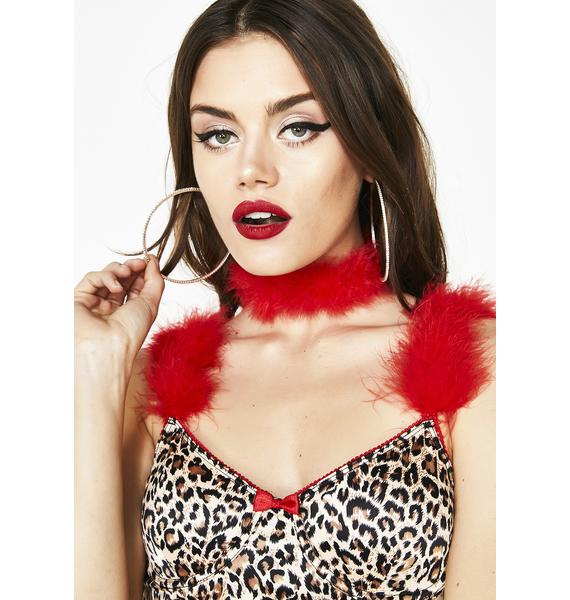 Fire Kinky Lush Faux Fur Choker