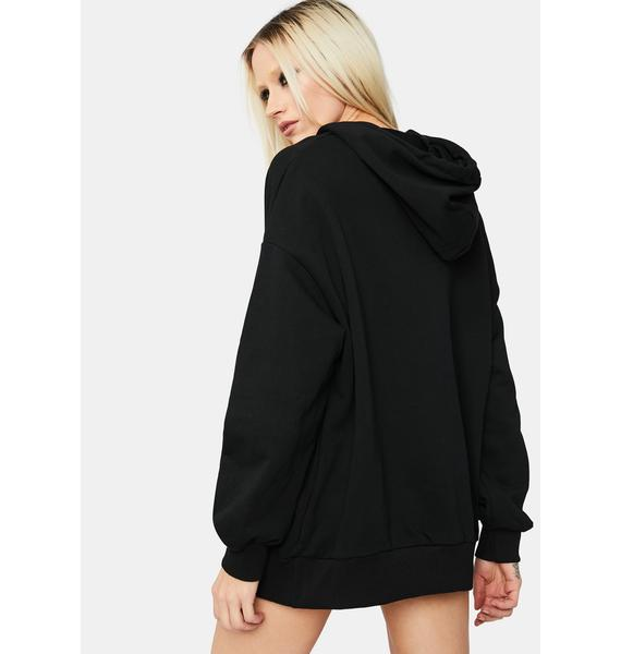 Luck Be A Lady Cold Shoulder Hoodie