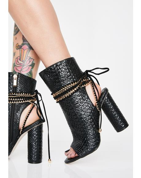 Honestly Get Real Snakeskin Boots