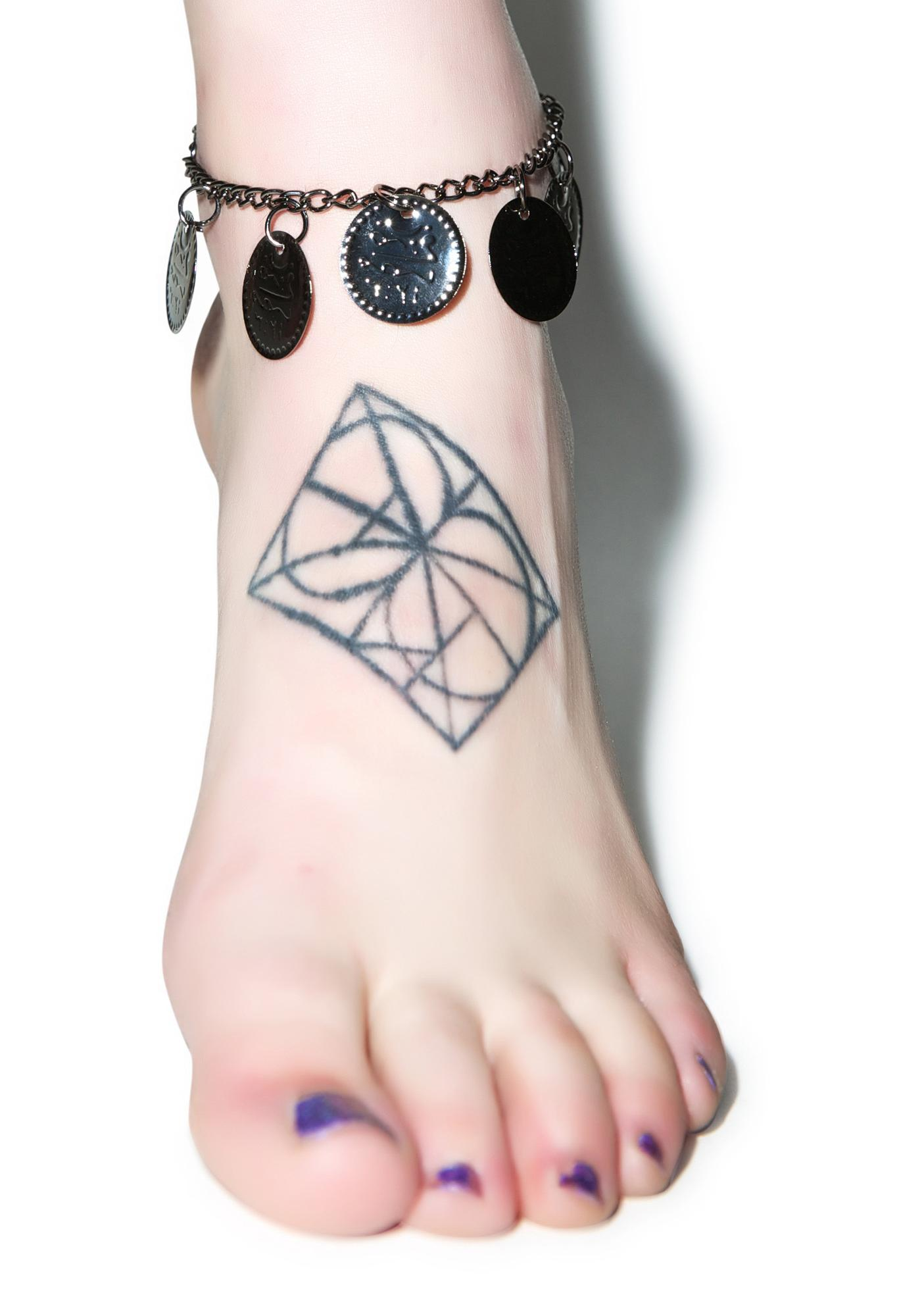 Dark Gypsy Coin Anklet