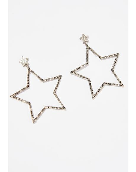 HollyWoo Star Earrings