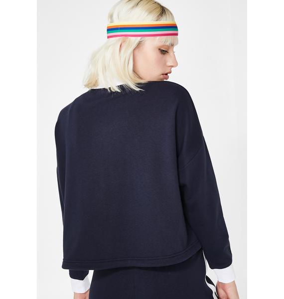 JUICY COUTURE Double Zip Crop Pullover
