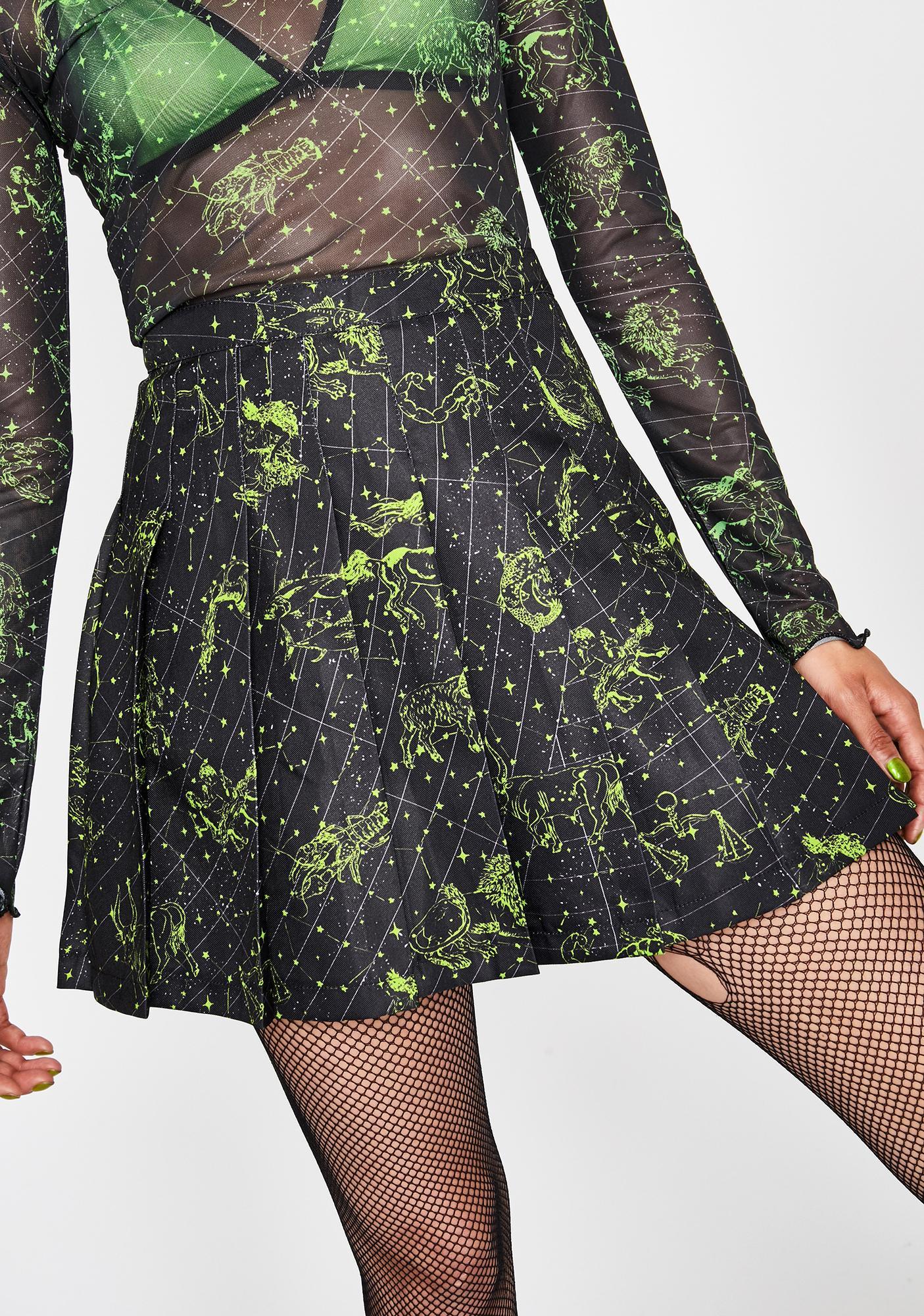 HOROSCOPEZ Divine Line Pleated Skirt
