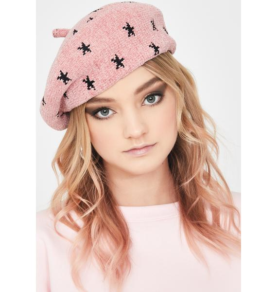 Stars Above Knit Beret