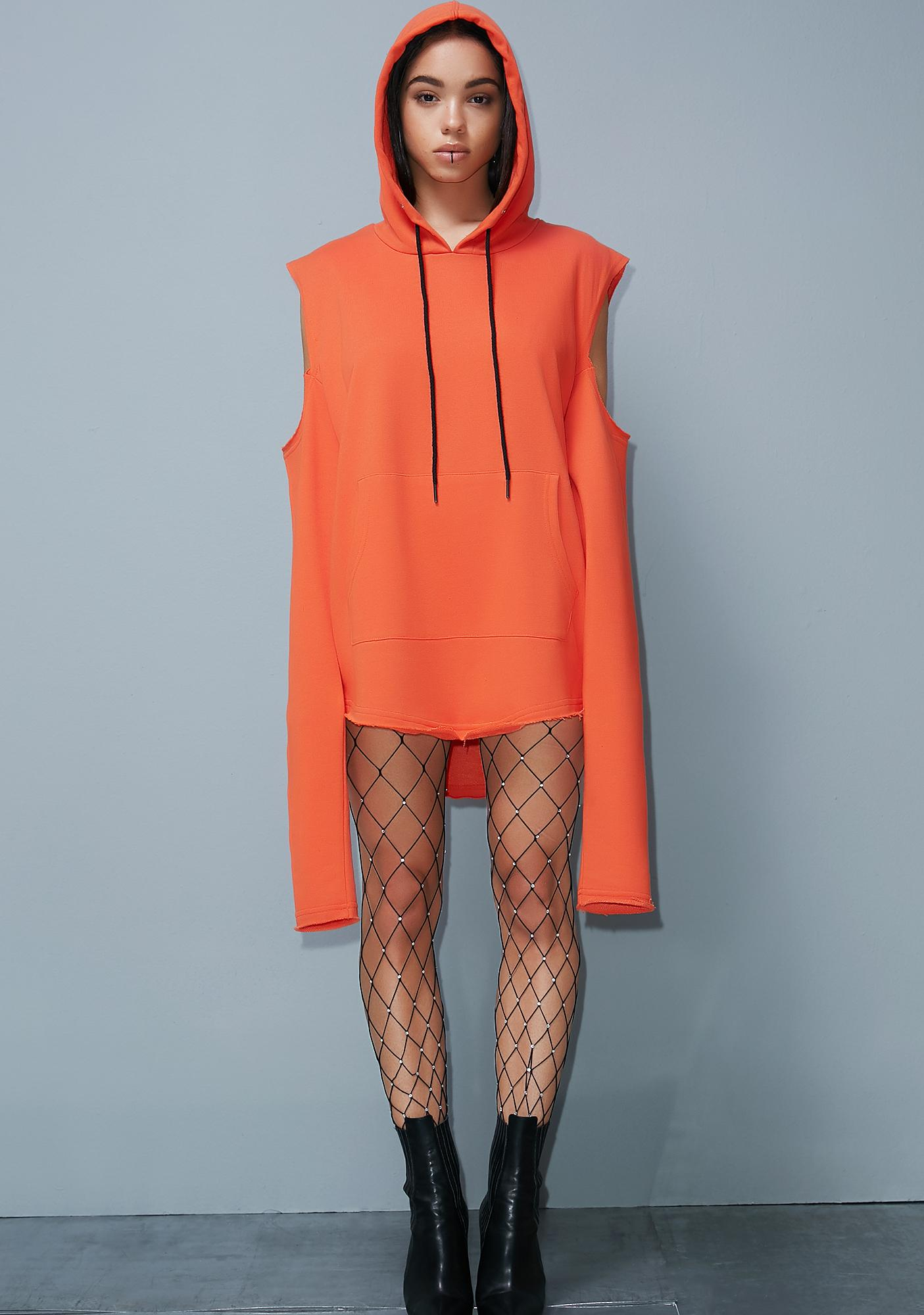ca27e1f6f9d Poster Grl Orange Street Smarts Sweatshirt Dress