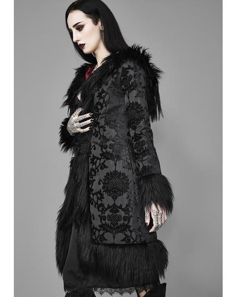 Shrouded In Moonlight Brocade Coat