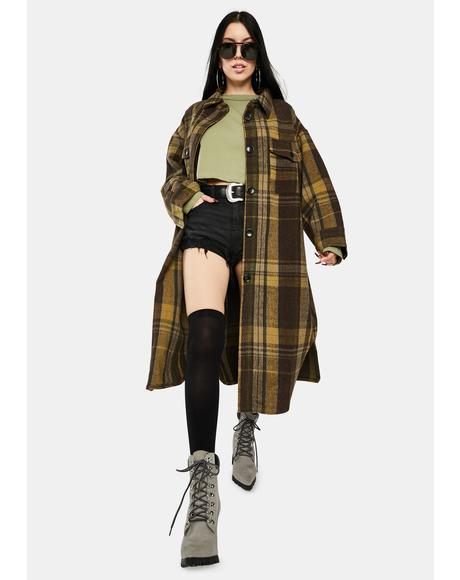 Plaid Long Jacket