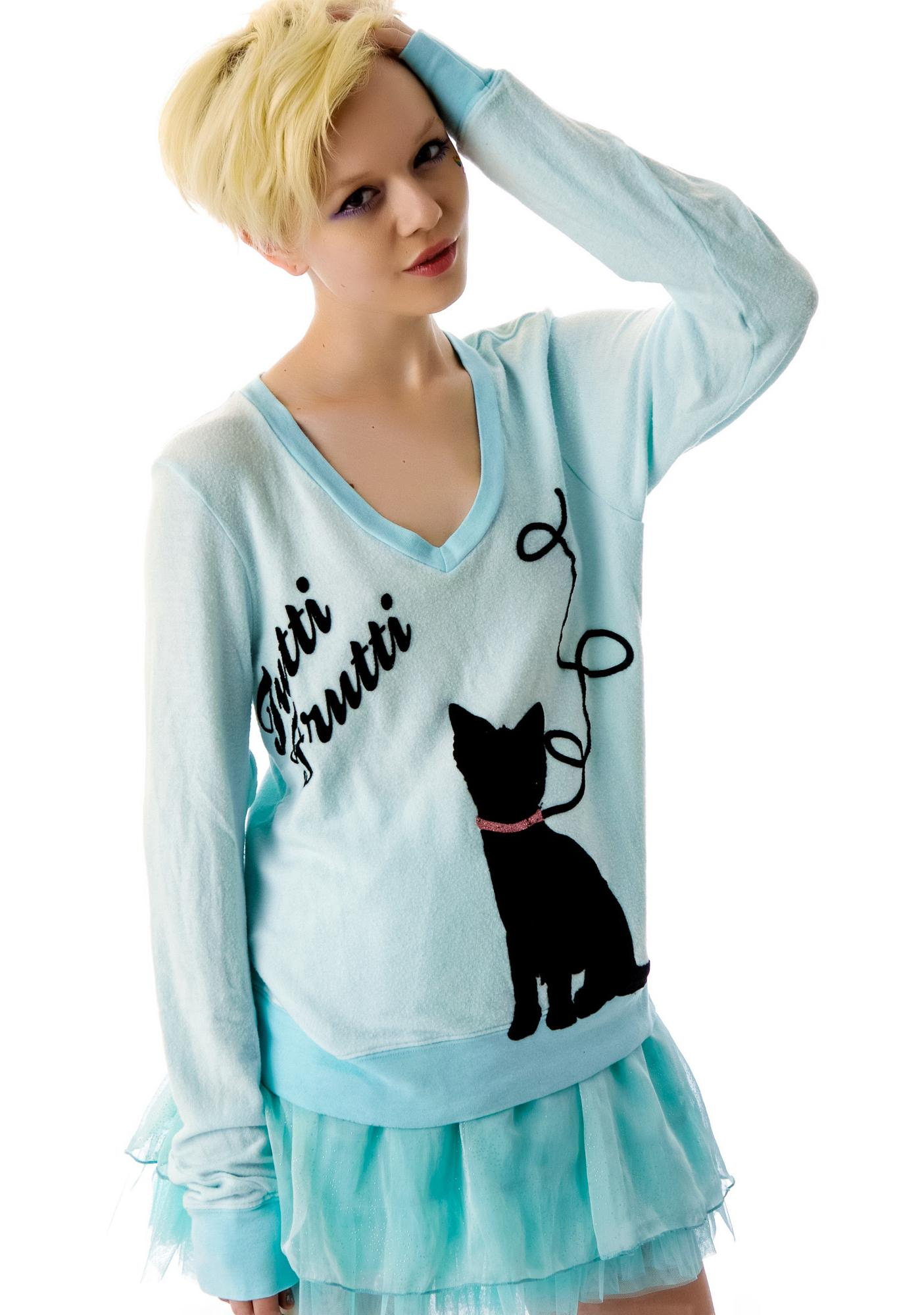 Wildfox Couture The Cat's Meow Baggy Beach Jumper