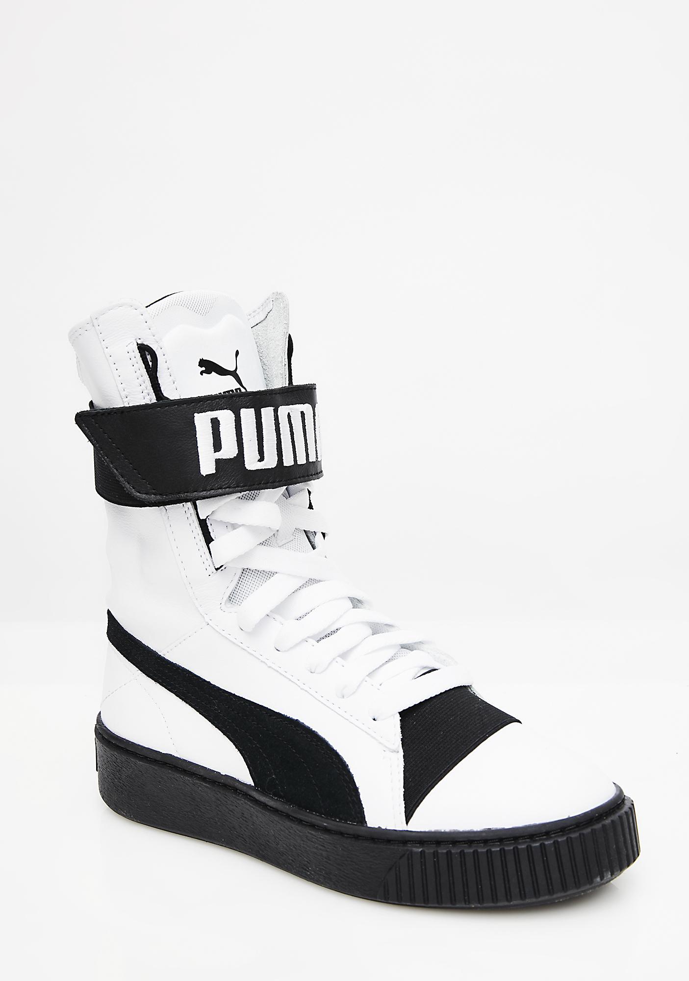 all white puma boots