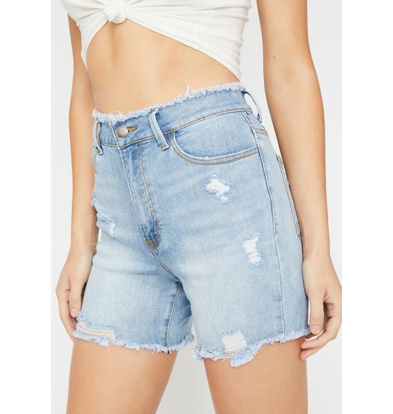 Beach Bae Distressed Shorts