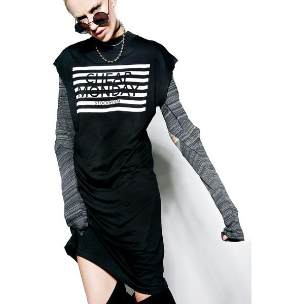 Cheap Monday Stripe Logo Capsule Dress