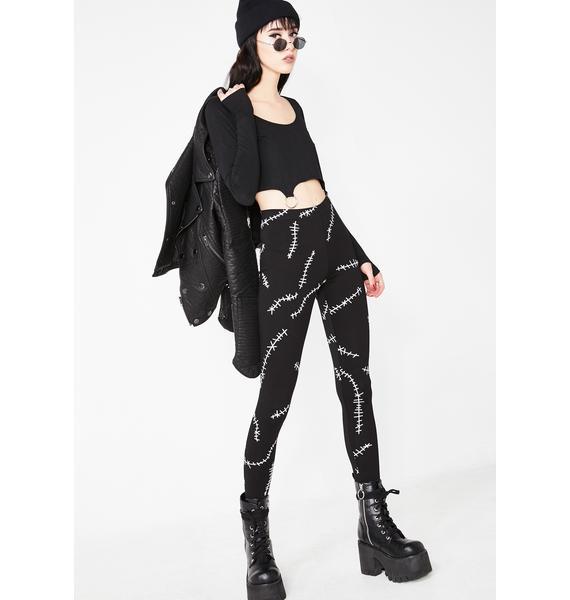 Dolls Kill Zombie Girl Stitch Leggings