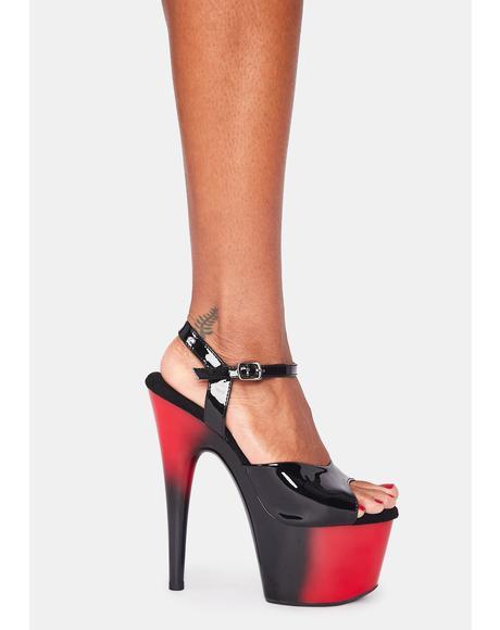 Devil Kat Stacks Adore Platform Heels