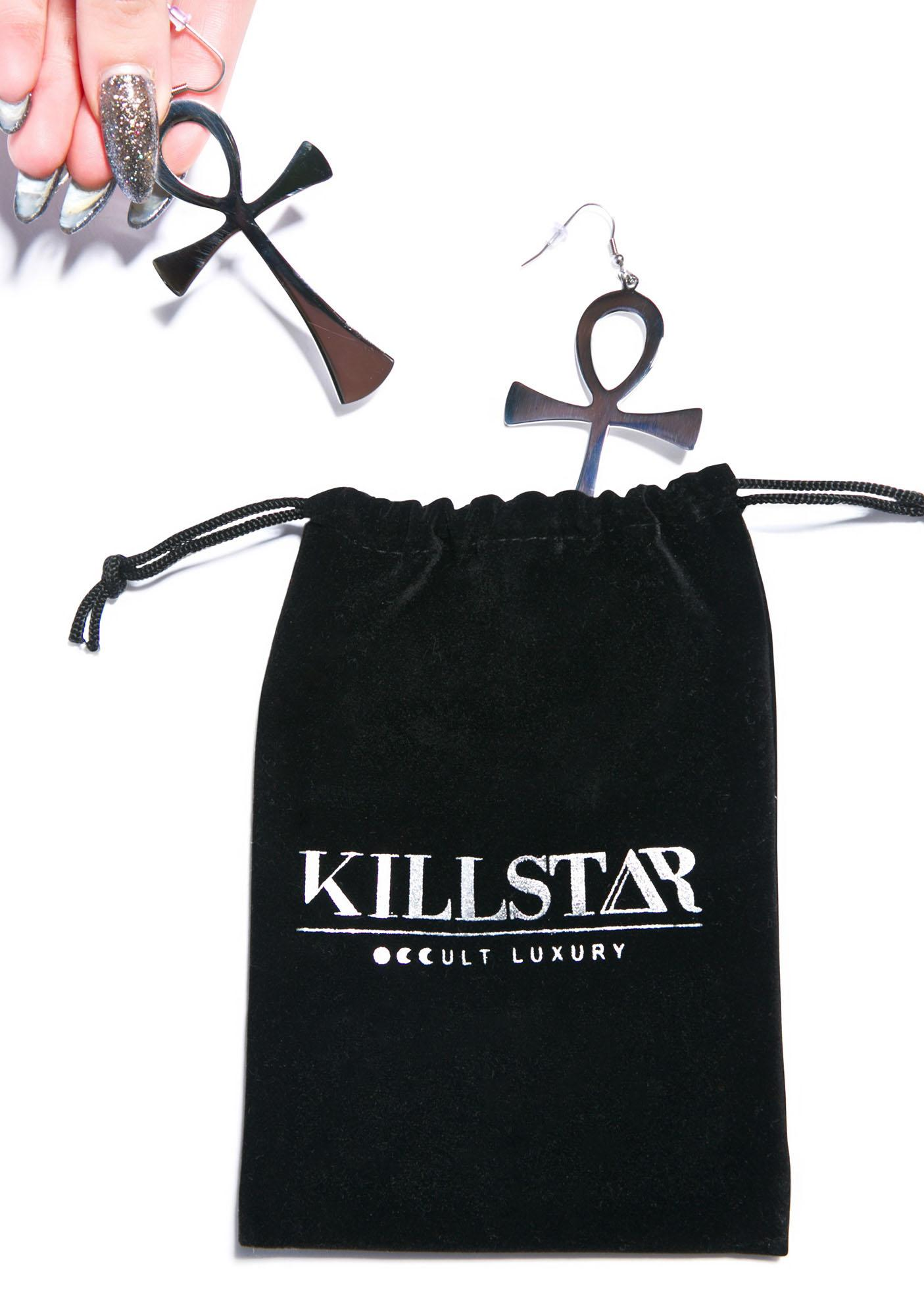 Killstar Ankh Earrings