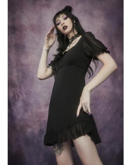 Of The Fey Chiffon Babydoll Dress