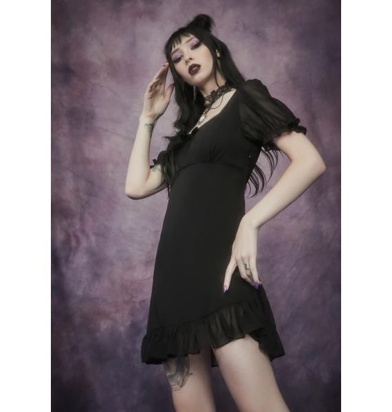Widow Of The Fey Chiffon Babydoll Dress